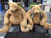Sale 8787 - Lot 1052 - Big Teddy Bear & Smaller Bear With Waist Coat