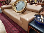 Sale 8822 - Lot 1149 - Modern Leather 2 Seater Lounge in Camel