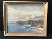 Sale 8953 - Lot 2060 - Artist Unknown Overlooking the Coastline oil on canvas, 46.5 x 58cm (frame) , unsigned