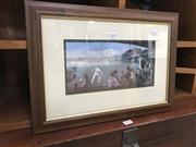 Sale 9019 - Lot 2059 - Robert Ponsonby Staples Fantasy Cricket Match England V Australia, 1886, decorative print, 29 x 41 cm