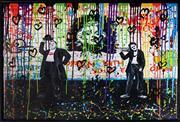 Sale 9034A - Lot 5043 - Nastya Rovenskaya (1976 - ) - Laurel and Hardy 61.5 x 92 cm (65 x 95 x 5 cm)