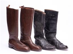 Sale 9190E - Lot 66 - Two pairs of vintage riding boots, one pair 9