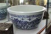 Sale 8324 - Lot 72 - Hsuan Te Style Blue & White Dragon Bowl