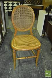 Sale 8390 - Lot 1130A - Set of 4 Rattan Dining Chairs