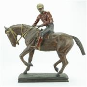 Sale 8413 - Lot 38 - Contemporary Bronze Horse & Rider Statue