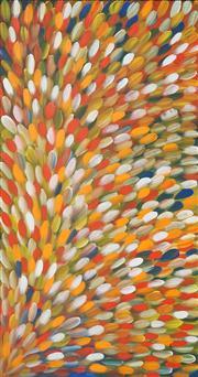 Sale 8449A - Lot 540 - Gloria Petyarre (c1945 - ) - Bush Medicine Leaves 199 x 105cm