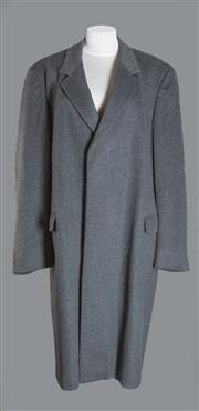 Sale 8493A - Lot 14 - An Aquascutum wool-mix grey men's coat, size regular 44