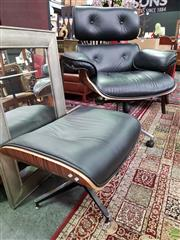 Sale 8580 - Lot 1064 - Eames Style Armchair and Ottoman