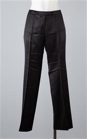 Sale 8685F - Lot 40 - A pair of Emporio Armani lustrous black wool-blend pants, size TG. 42