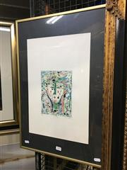 Sale 8776 - Lot 2044 - Eiichi Shibuya - Portrait colour etching ed38/50, 61 x 41cm (frame) , signed lower right -