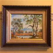 Sale 8878T - Lot 48 - Namikos, Oil Painting of an Australian Bush Scene Dimensions of Frame - 35.5cm x 31cm