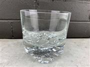 Sale 9056 - Lot 1077 - Mid Century Glass Optic Whiskey Tumbler Vase (d:11.5cm)