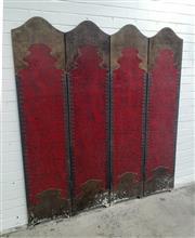 Sale 9071 - Lot 1038 - Boole Style 4 Panel Screen (180 x 160cm)