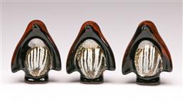 Sale 9114 - Lot 74 - A set of three studio pottery penguins (H:8cm)