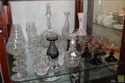 Sale 8288 - Lot 87 - Crystal Decanter with Air Twisted Stopper with Other Crystal & Glass incl. Finely Cut Stem Wares