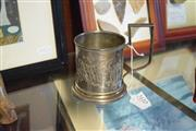 Sale 8396C - Lot 36 - Russian Silver Tea Holder with 20th Century Makers Mark Theta,N. (Weight - 139g)