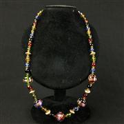 Sale 8402D - Lot 41 - Multi Coloured Aventurine Art Glass Necklace (Length - 58cm)