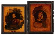 Sale 8887 - Lot 62 - A pair of C19th behind glass printed and coloured portraits of Lord Rowland Hill and Sir William Sydney Smith, of Australian interest