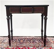 Sale 9080 - Lot 1063 - Timber Hall Table on Turned Fluted Legs (H:85 x W:82 x D:41cm)