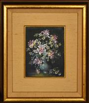 Sale 8394 - Lot 503 - Robert Cox (1934 - 2001) - The Green Vase 12.5 x 9.5cm