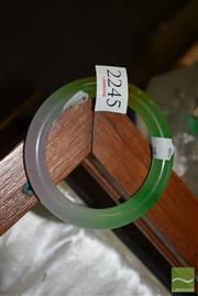 Sale 8509 - Lot 2245 - Chinese Green Jade Bangle