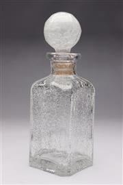 Sale 8694 - Lot 24 - A crackle glaze decanter with bulbous stopper