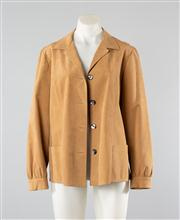 Sale 8740F - Lot 5 - A Simona Couture camel suede box jacket, approx size 10