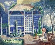 Sale 8752A - Lot 5007 - Norman Lloyd (1897 - 1985) - Summer House 44 x 54.5cm