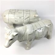 Sale 8758 - Lot 24 - Porcelain Butchers Demonstrators (2)