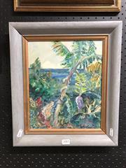 Sale 8789 - Lot 2083 - Artist unknown - Island Scene, oil on board, 40 x 35cm, unsigned