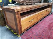 Sale 8912 - Lot 1023 - Rustic Timber Entertainment Unit by Jimmy Posum