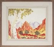 Sale 9028 - Lot 2028 - Trevor Pareroultja (1941 - 1983) - Central Australian Landscape 27 x 33.5 cm (frame: 42 x 49 x 3 cm)