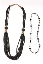 Sale 9078 - Lot 146 - A Large Beaded Necklace Together with A Semi Precious Stone Example