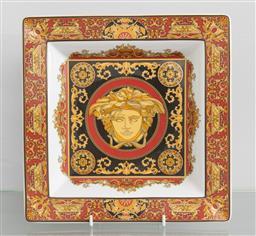 Sale 9256H - Lot 3 - A Versace square form shallow Medusa Head vide poche, 22cm x 22cm.