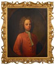 Sale 8382 - Lot 566 - René Auguste Constantyn (active 1712 - 1726) - Nicholas Clerembault, 1717 74 x 62cm