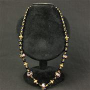 Sale 8402D - Lot 43 - Royal Blue Aventurine Art Glass Necklace (Length - 60cm)