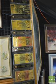 Sale 8407T - Lot 2087A - 7 Gilt Australian Banknotes