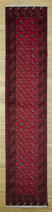 Sale 8589C - Lot 43 - Afghan Turkman Runner, 380x82