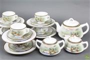 Sale 8621 - Lot 83 - Japanese Handpainted Tea Setting for 6