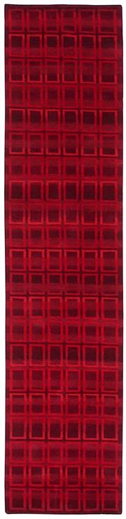 Sale 8626A - Lot 122 - A Cadrys Jan Kath 'Zargunti' Tibetan Highland Wool & Chinese Silk Carpet, Size; 397X90cm, RRP; $2875