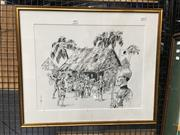 Sale 8752 - Lot 2069 - Artist Unknown - Concentration Camp World War II Print
