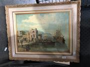 Sale 8789 - Lot 2069 - Artist Unknown - Italian Coastal Townscape, 42 x 51cm, signed lower left