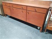 Sale 8839 - Lot 1018 - Vintage Teak Sideboard with Three Drawers and Doors