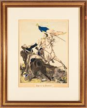 Sale 8887 - Lot 88 - A Victorian hand coloured print, Fight for the Standard