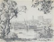 Sale 8867A - Lot 5011 - Douglas Pratt (1900-1972) - Harbour Scene 24.5 x 33.5cm