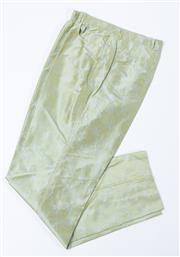 Sale 9003F - Lot 67 - A pair of pants by Benard Zins for Sacs Fifth Avenue in  green silk, Size 14