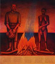 Sale 9047 - Lot 533 - Bob Marchant (1938 - ) - Drovers Boy 1997 198 x 167.5 cm (frame: 202 x 172 x 4 cm)