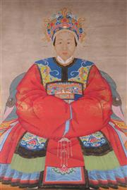 Sale 9015 - Lot 31 - A Chinese Scroll Featuring Ancestor (230cm x 105cm)