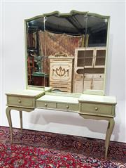Sale 9080 - Lot 1017 - French Style Mirrored Back Dressing Table with Four Drawers (H:201 x W:161 x D:41cm)