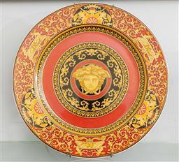 Sale 9256H - Lot 18 - A Versace circular Medusa Head presentation plate, D 30cm.